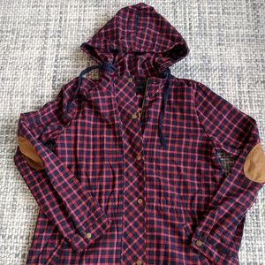 Women's lined plaid coat by Blu Pepper, size large
